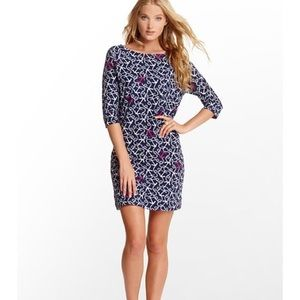 Lilly Pulitzer Cassie Dress Navy Ahoy There